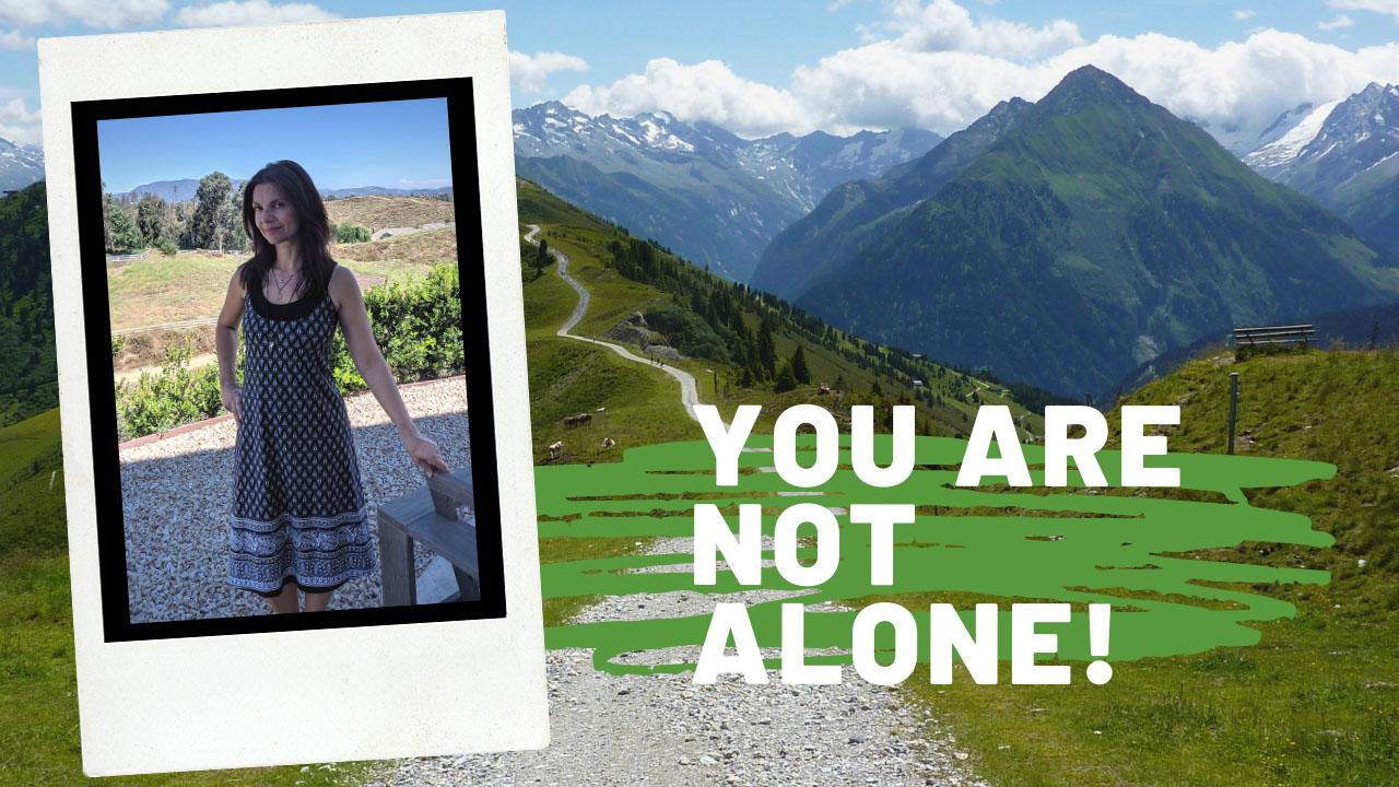 Pia in a postcard