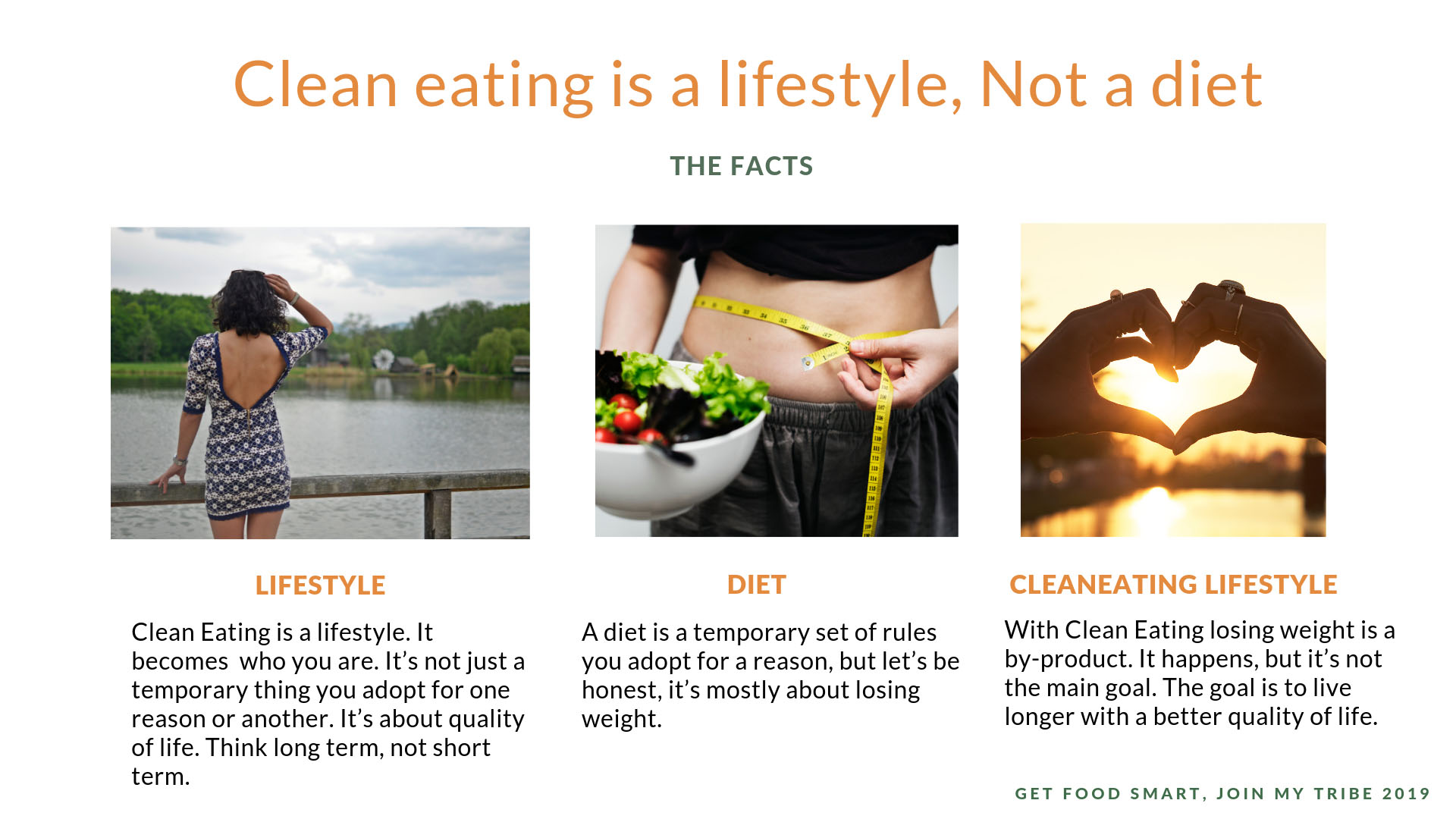 Eating is a lifestyle, not a diet