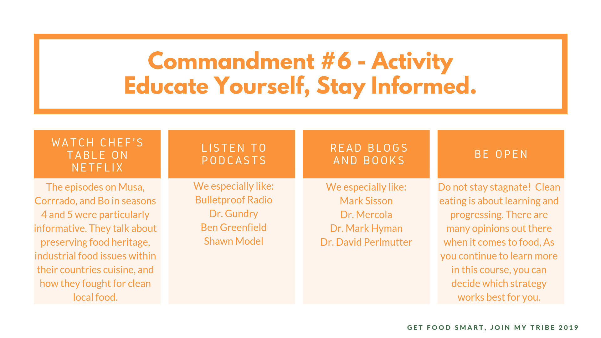 commandment #6 Educate yourself, stay informed