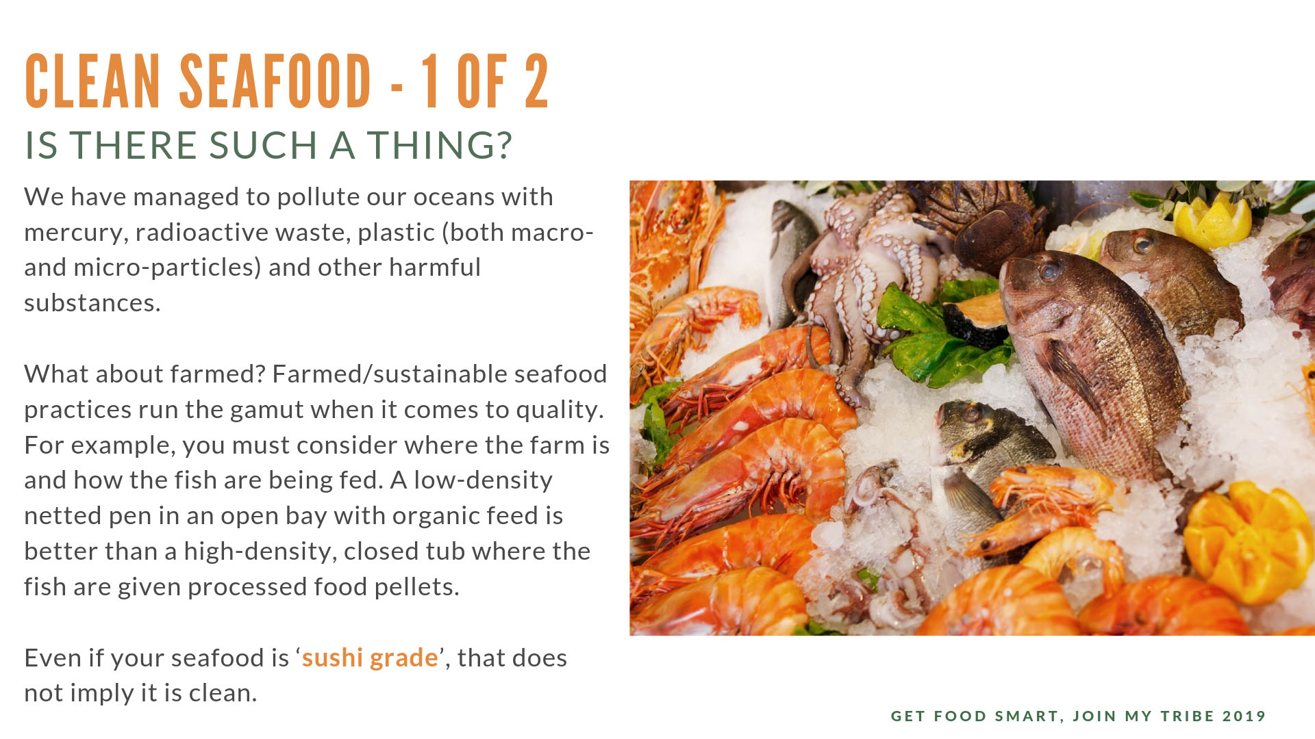 Is any seafood clean?
