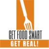 "Fork with words ""Get Food Smart, Get Real""!"